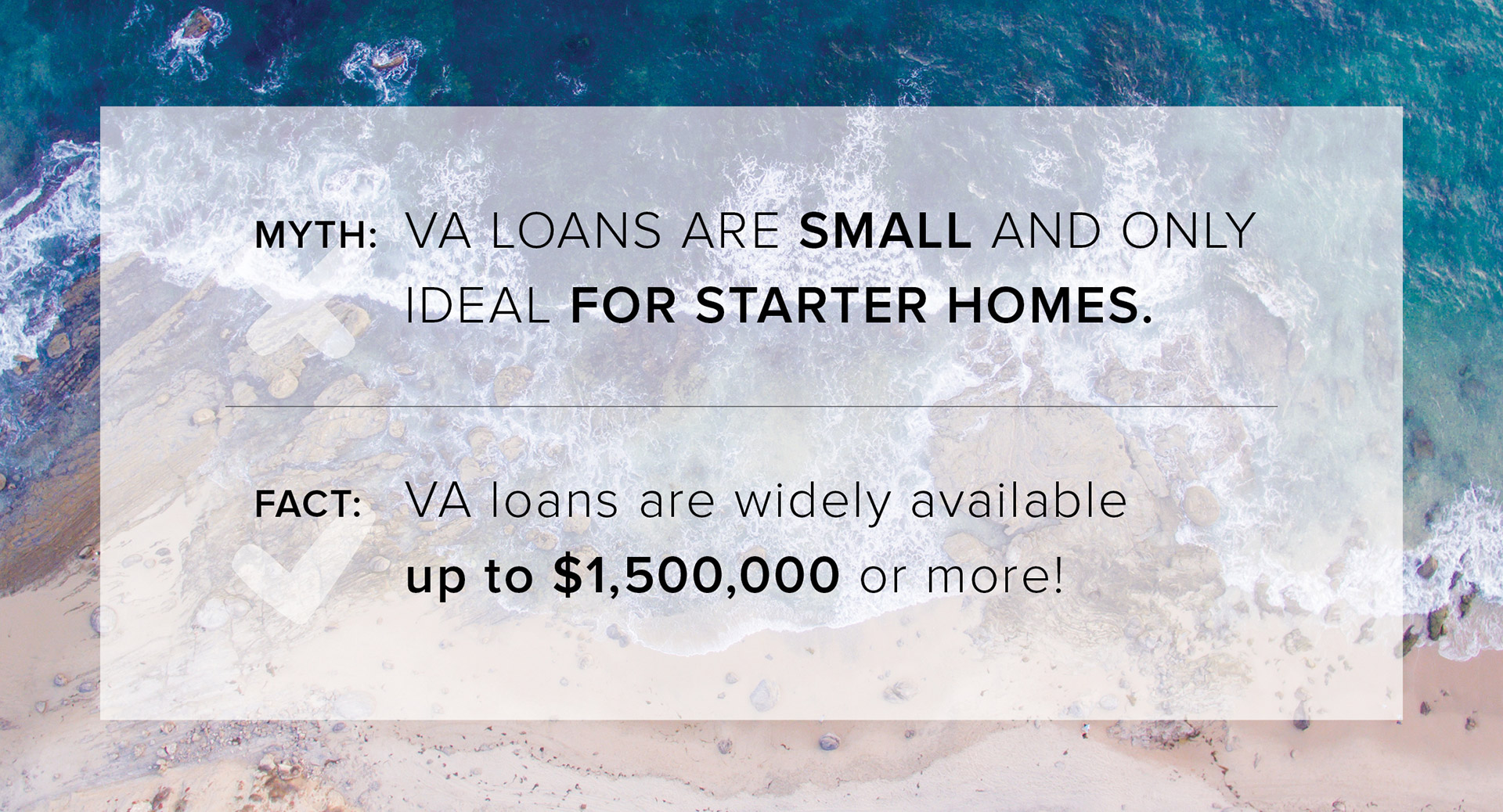 We're here to help you dispell VA Loan Myths!
