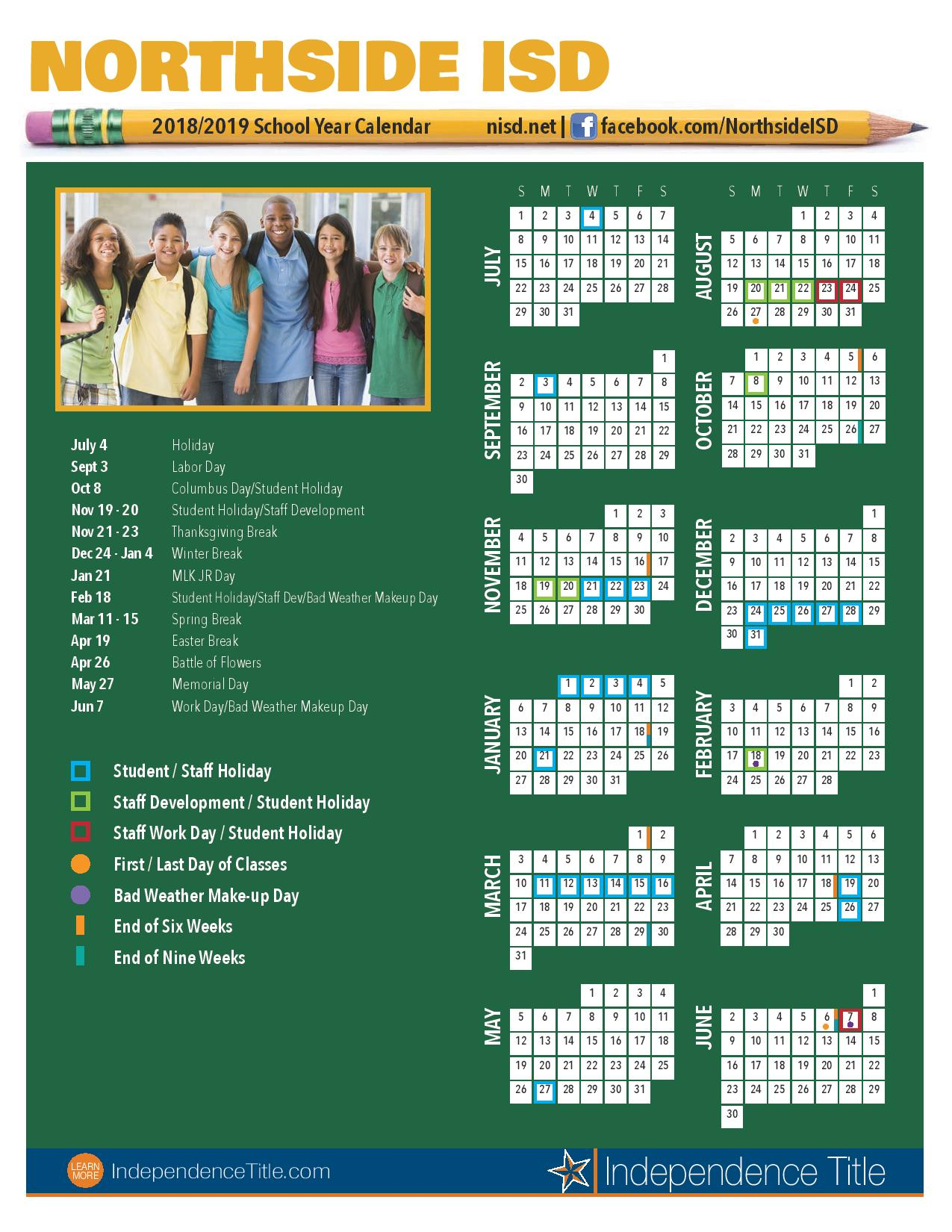 2018 19 School Calendars Kristalli Real Estate